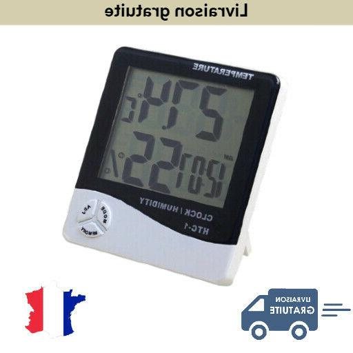 thermometre hygrometre digital lcd exterieur interieur humid