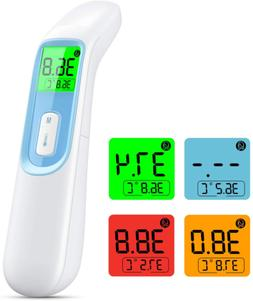Thermomètre sans contact IDOIT 4 en 1 thermomètre frontal